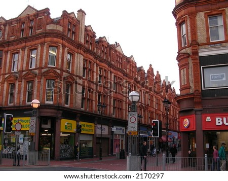 Typical street in Reading (London) - stock photo