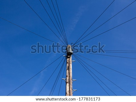 Typical Telephone cables found in a residential street