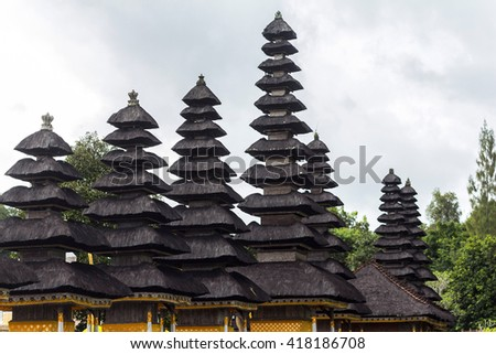 Typical temple on Bali, Indonesia - stock photo