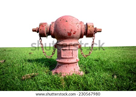 Typical Thailand red Fire Hydrant - stock photo