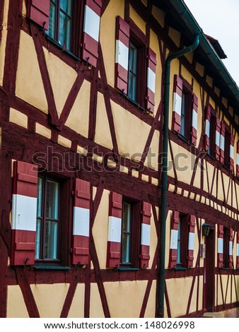 Typical timbered house in Nuremberg (Germany) - stock photo