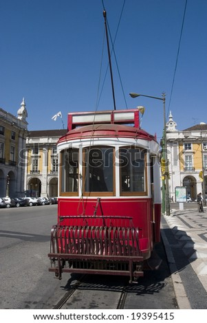 Typical tram of lisbon, Portugal