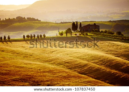 typical Tuscany landscape, Italy - stock photo