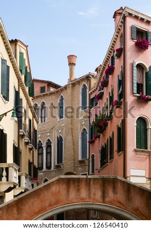 Typical Venice architecture. - stock photo