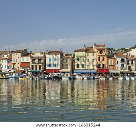 Typical view of Cassis near Marseille in South France - stock photo
