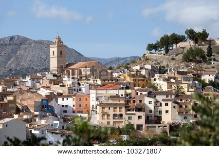 Typical View of Small Settlement in Southern Spain - Costa del Sol Area