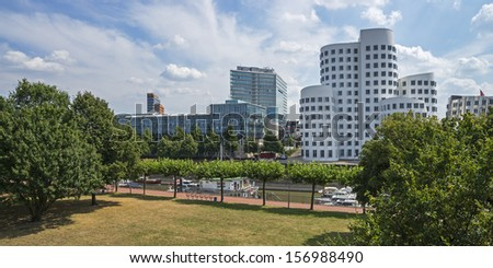 Typical view of the city of Dusseldorf in Germany
