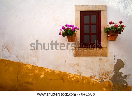 Typical Window - stock photo