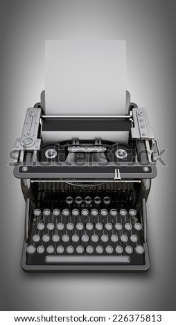Typing Machine. High resolution 3d