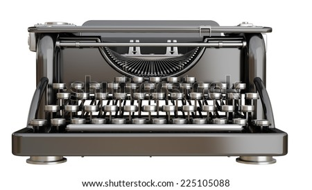 Typing Machine isolated on white background. High resolution 3d - stock photo