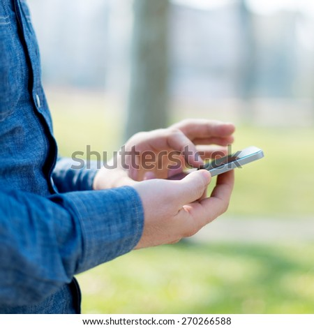 Typing on Smart phone