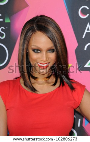 Tyra Banks at the Nickelodeon's 23rd Annual Kids' Choice Awards, UCLA's Pauley Pavilion, Westwood, CA 03-27-10