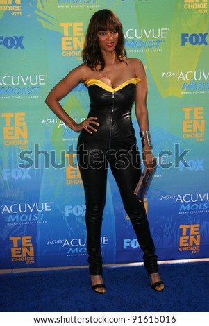 Tyra Banks at the 2011 Teen Choice Awards, Universal Amphitheater, Universal City, CA. 08-07-11