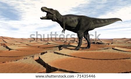 tyrannosaurus - stock photo