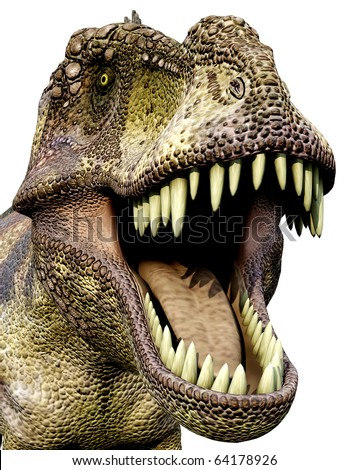 Tyrannosaurus green side close up