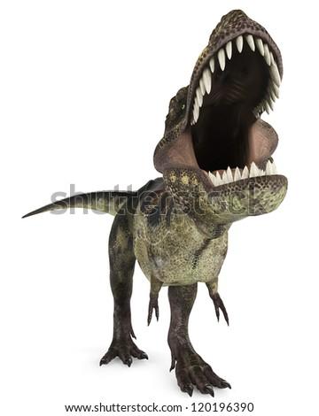 tyrannosaurus rex close up - stock photo