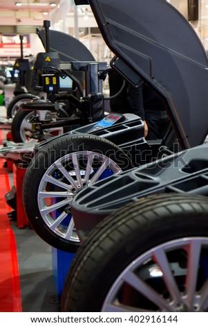 Tyre balance - stock photo
