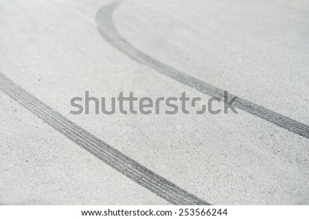 Tyre marks - stock photo