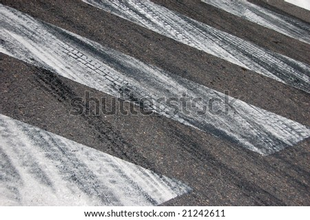 tyre marks on road