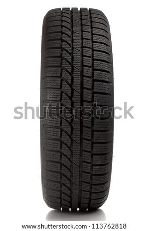 Tyre over white background - stock photo