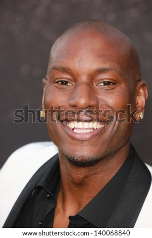 """Tyrese Gibson at the """"Fast And Furious 6"""" Los Angeles Premiere, Gibson Amphitheatre, Universal City, CA  05-21-13 - stock photo"""