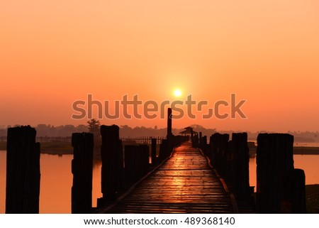 U Bein Bridge at Mandalay