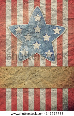 U.S.A. Flag for July 4th, Labor Day - stock photo
