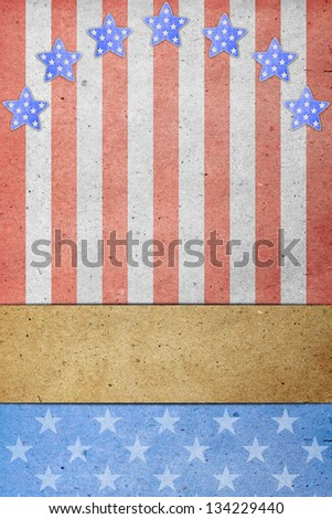 U.S.A. Flag on July 4th, Labor Day. - stock photo
