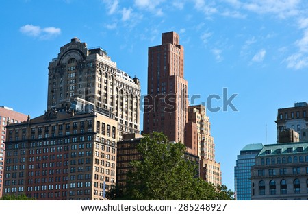 U.S.A., New York, Manhattan, the buildings of south Broadway