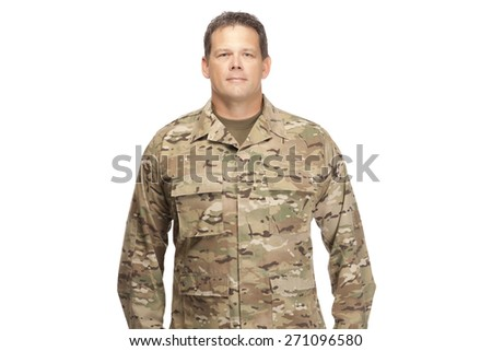 U.S. Army Soldier, Sergeant. Isolated. - stock photo