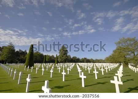 U.S. Cemetery - stock photo