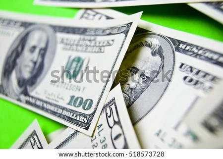 U.S. Currency - Selective Focus