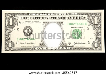 U.S. dollar with space for photo or type in center - stock photo