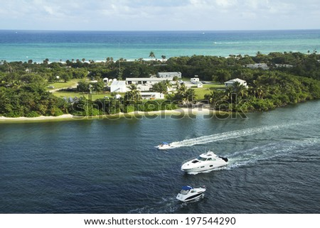 """U.S.. Florida. Fort Lauderdale. Fort Lauderdale is a resort city on the East coast of South Florida. This city is known as the """"American Venice"""". - stock photo"""