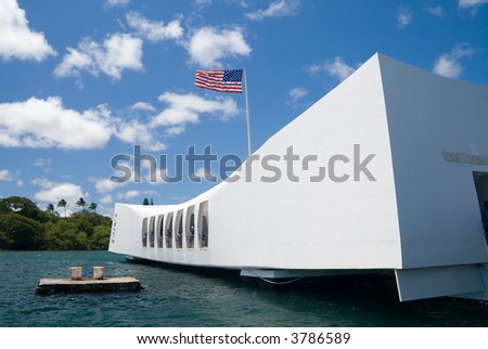 U.S.S. Arizona Memorial in Pearl Harbor.