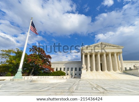 U.S. Supreme Court in Autumn - Washington DC, United Sates  - stock photo