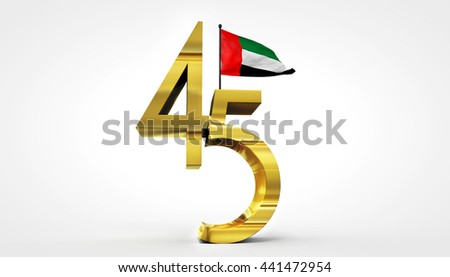 UAE National Day - 3D Rendering - stock photo
