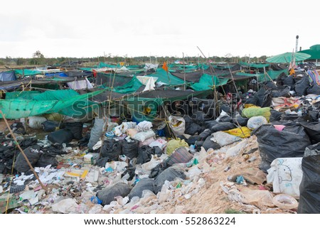 Plastic Waste Dumping Site Stock Photo 448263469