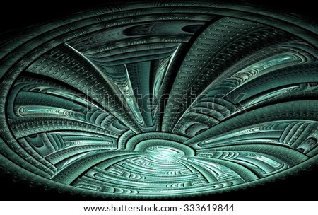 Ufo - Alien spaceship  - stock photo