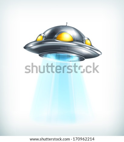 UFO, bitmap copy - stock photo