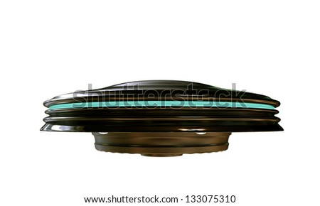 ufo isolated on white background - stock photo