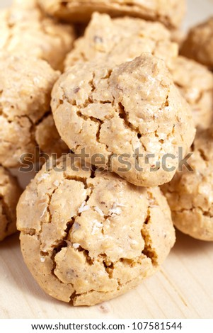 ugly but good - tuscan cookies - stock photo