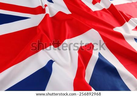 UK, British flag, Union Jack - stock photo