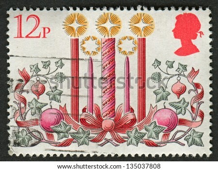 UK - CIRCA 1980: A stamp printed in UK shows image of The Candles, circa 1980. - stock photo