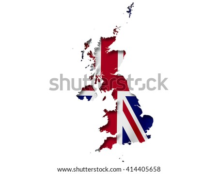UK map with flag inside