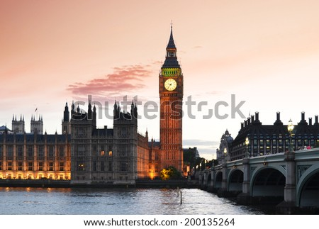 UK Parliament, London - stock photo