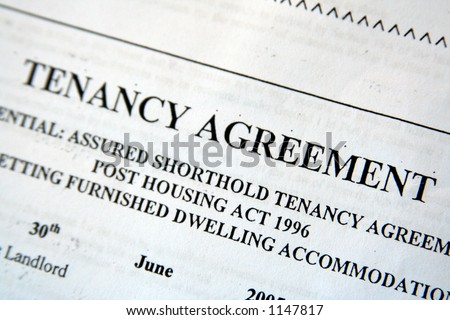 UK Tenancy Agreement - stock photo