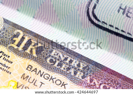 UK United Kingdom visa in passport