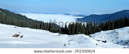 Ukraine, Carpathian Mountains, the ridge Marmarosh