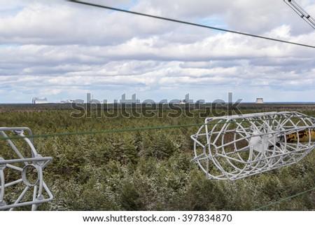 UKRAINE. Chernobyl Exclusion Zone. - 2016.03.20. Soviet radar facility DUGA - stock photo